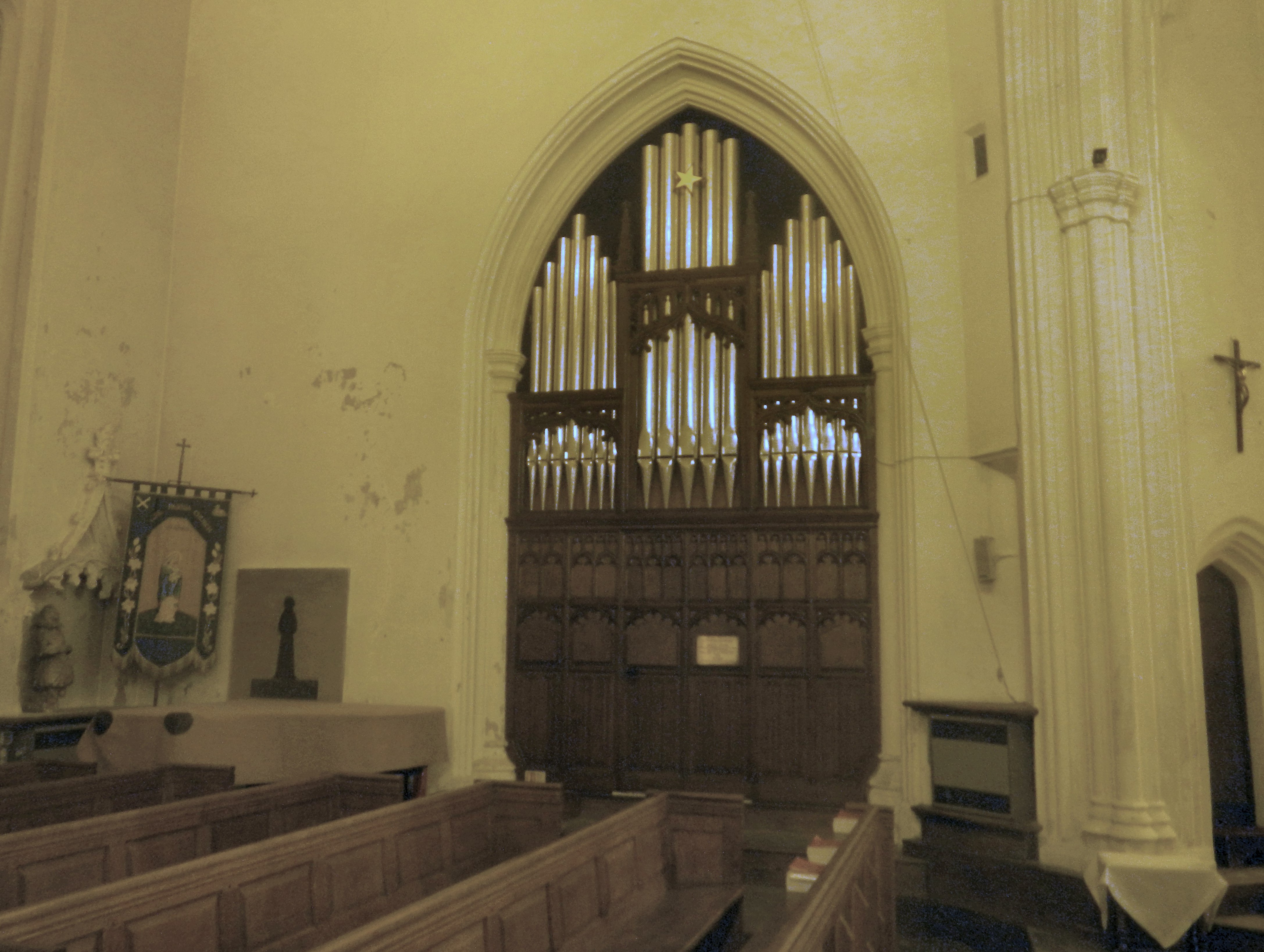 Image: The organ at St Mary's, Ware